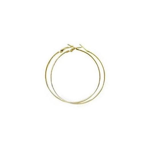 Náušnice - zlacené kruhy