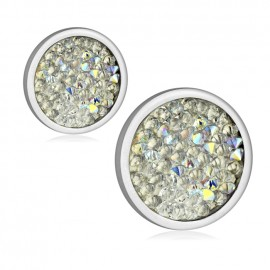 Ocelové náušnice s krystaly Crystals from Swarovski®, CRYSTAL AB