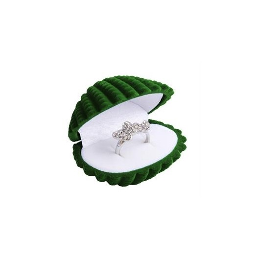 Dárková krabička semiš - lastura zelená