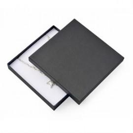 Dárková krabička na soupravu šperků velká - černá