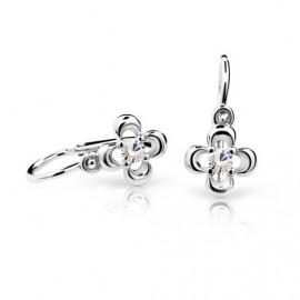 Cutie Jewellery Dětské naušnice Cutie C2013-B CZ White