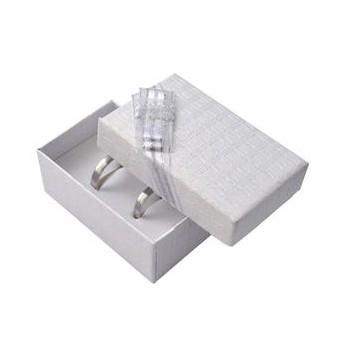 Dárková krabička na snubní prsteny - bílá