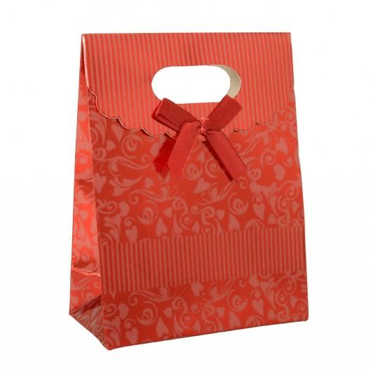 Dárková taška s mašlí červená