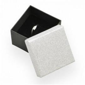 Dárková krabička na prsten stříbrná/černá
