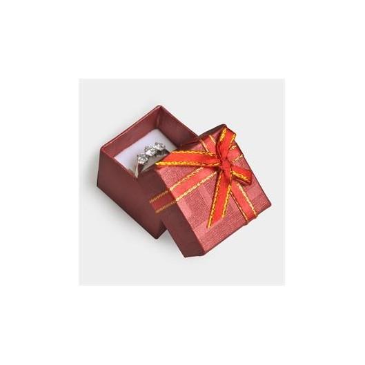 Stříbrná dárková krabička na prsten
