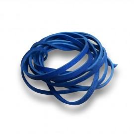 Řezaná kožená šňůrka tm. modrá, tl. 2 mm, délka 100 cm