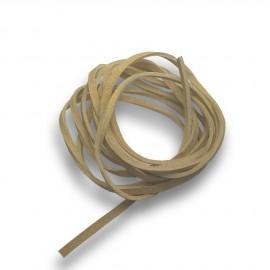 Řezaná kožená šňůrka béžová, tl. 2 mm, délka 100 cm