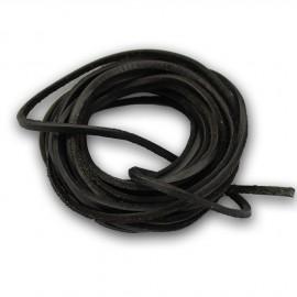 Řezaná kožená šňůrka černá, tl. 2 mm, délka 100 cm
