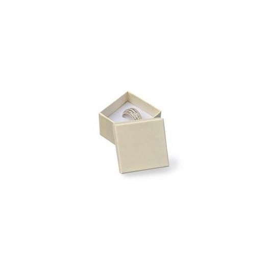 Dárková krabička na prsten - krémová