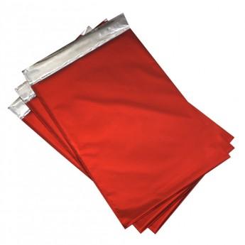 Dárkový sáček červený matný 75 x 120 mm