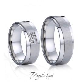 Snubní prsteny chirurgická ocel 1 pár AE028
