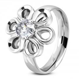 Prsten chirurgická ocel květ LNRE090