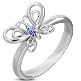 Prsten chirurgická ocel motýl LNRE081