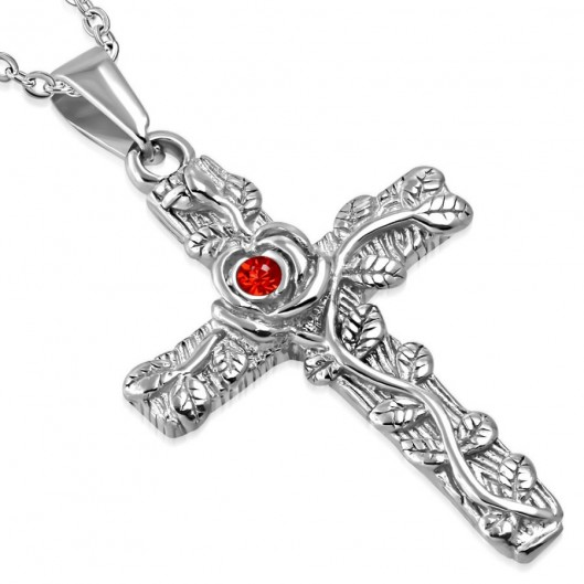 Přívěsek chirurgická ocel kříž LHPV770