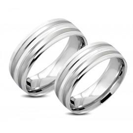 Snubní prsteny chirurgická ocel 1 pár LRCH055