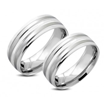 Snubni Prsteny Chirurgicka Ocel 1 Par Lrch055 Snubni Prsteny Z