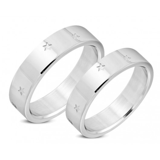 Snubní prsteny chirurgická ocel 1 pár LRRR057