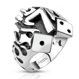 Prsten chirurgická ocel šťastná sedma HWRQ3993