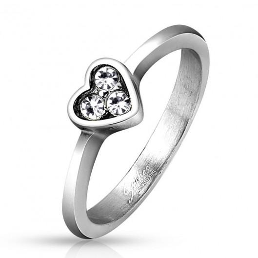 Prsten chirurgická ocel s kamínky HWRM4510