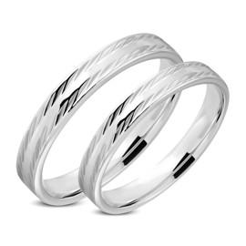 Snubní prsteny chirurgická ocel 1 pár LRRR315