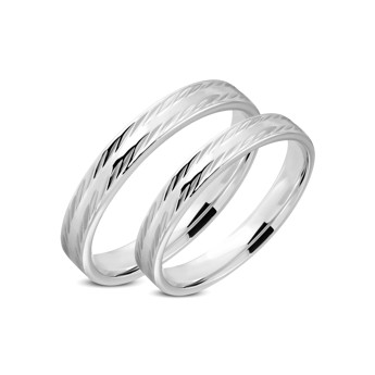 Snubni Prsteny Chirurgicka Ocel 1 Par Lrrr315 Snubni Prsteny Z