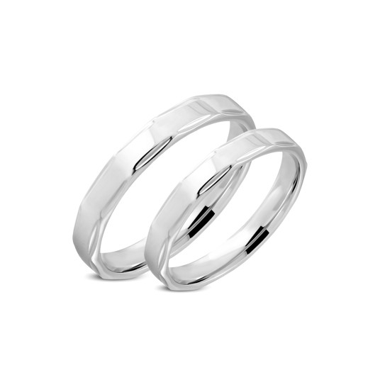 Snubní prsteny chirurgická ocel 1 pár LRRR316