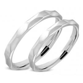 Snubní prsteny chirurgická ocel 1 pár LRRR309