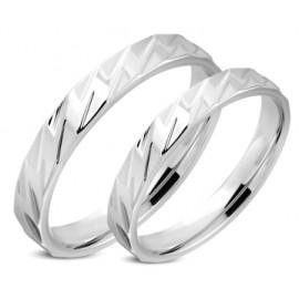 Snubní prsteny chirurgická ocel 1 pár LRRR313