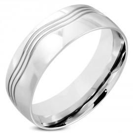 Snubní prsteny chirurgická ocel 1 pár LRRR326