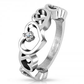 Prsten chirurgická ocel s kamínky HWRM4505
