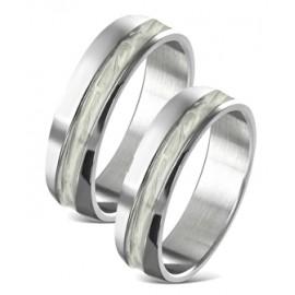 Snubní prsteny chirurgická ocel 1 pár LVRR256