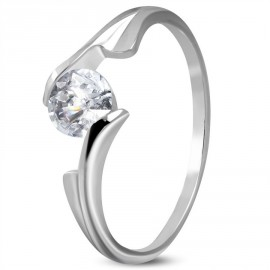 Prsten chirurgická ocel s kamínkem LZRC220