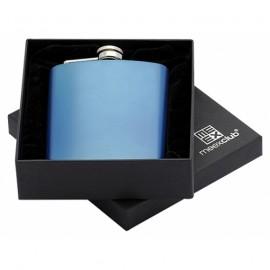 Modrá ocelová kapesní lahev - placatka 175 ml