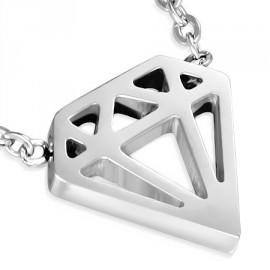 Náhrdelník chirurgická ocel diamant LCAT857