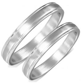Snubní prsteny chirurgická ocel 1 pár LZRO112