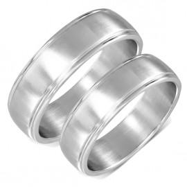 Snubní prsteny chirurgická ocel 1 pár LZRO114