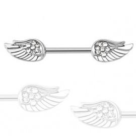 Piercing do bradavky chirurgická ocel křídla HWKR14578