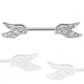 Piercing do bradavky chirurgická ocel křídla HWKR14573