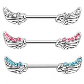 Piercing do bradavky chirurgická ocel křídla HWKR14574