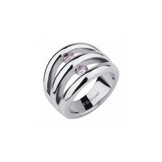 Prsten chirurgická ocel s kamínky RSS720