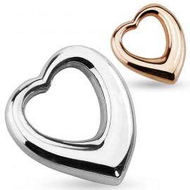 Přívěsek chirurgická ocel srdce HWSSPM6263