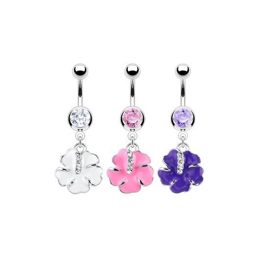 Piercing do pupíku květ HWNAL11983
