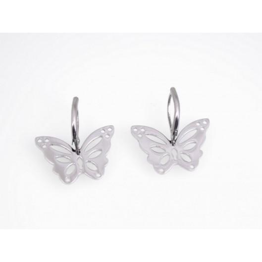 Naušnice chirurgická ocel motýl K34715