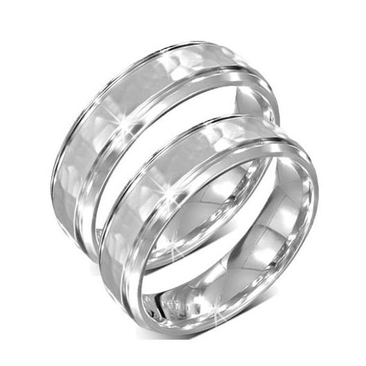 Snubní prsteny chirurgická ocel 1 pár LRAH087