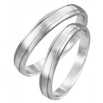 Snubní prsteny chirurgická ocel 1 pár LZRO031