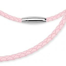 Kožené růžové lanko HWSN9005P