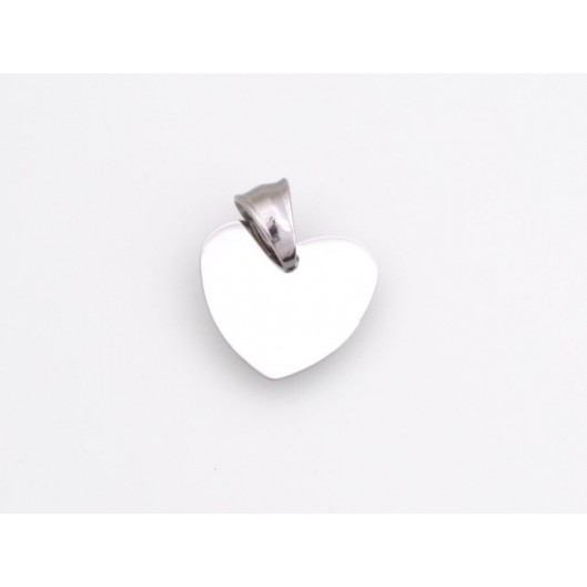 Přívěsek chirurgická ocel známka srdíčko K15231