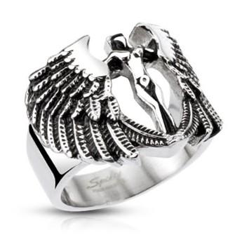 Prsten chirurgická ocel anděl HWRH4010