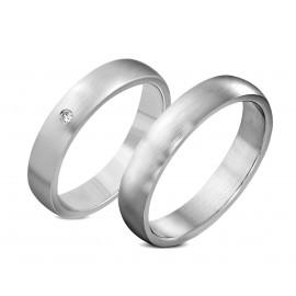 Snubní prsteny chirurgická ocel 1 pár LZRO048007