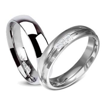 Snubní prsteny chirurgická ocel 1 pár LZRO09137